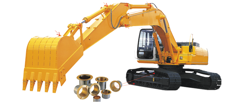 Paliers lisses pour machines de construction