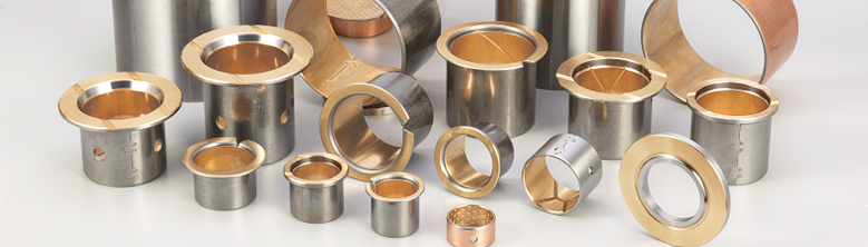 Metallic and bi-metallic sliding bearings