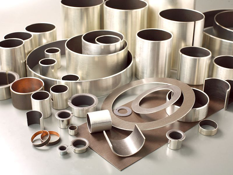 Metal-polymer sliding bearings
